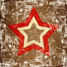 Free Star On Canvas Royalty Free Stock Images - 20411529