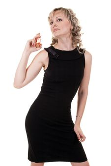 Free Woman Holds Perfumes Royalty Free Stock Images - 20411639