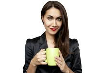 Free Businesswoman Drinking Coffee Or Tea Royalty Free Stock Photo - 20411735