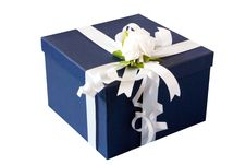 Free Gift Box With White Bow Royalty Free Stock Images - 20412089