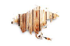 Free Wooden Map Of Eurasia Stock Image - 20412371