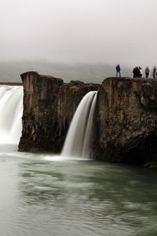 Godafoss Waterfall In Iceland Stock Photography