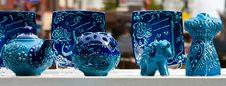Free Blue Potterry Royalty Free Stock Photo - 20413425