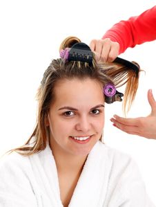 At The Hairdresser Royalty Free Stock Image