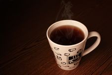 Free Steaming White Cup Royalty Free Stock Photography - 20413507