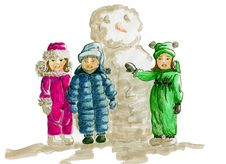Free Kids Winter Fashion Sketch Stock Image - 20414551