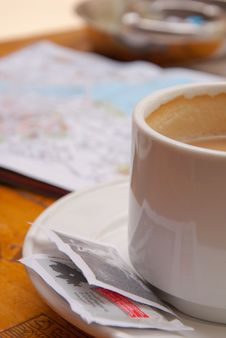 Coffee Cup In Street Cofe Royalty Free Stock Image