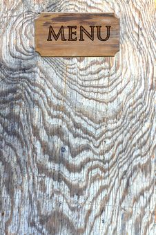 Free Menu Wood On Wood Wall Royalty Free Stock Images - 20415349