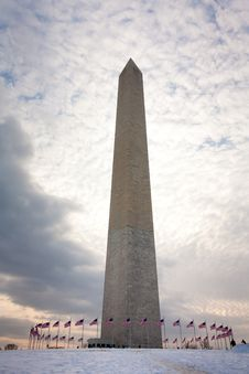 Free Wahington Monument Before Sunset In Winter Royalty Free Stock Photos - 20415428