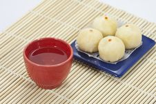 Chinese Tea In Red Cup Royalty Free Stock Photos