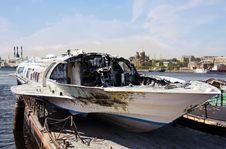 Free Burned Boat Royalty Free Stock Image - 20416036