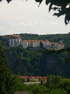Castle Vranov Nad Dyji Stock Photography