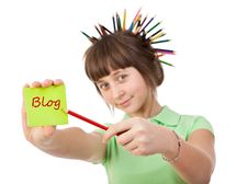 Free Girl With Pencils Stock Photo - 20416140