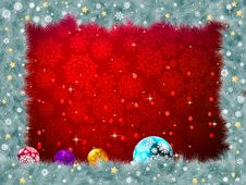 Christmas Background With Baubles. EPS 8 Stock Photography