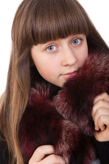 Free Girl In A Fur Coat Stock Images - 20416174
