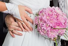 Free Bride And Groom Hands Stock Photo - 20416380
