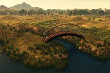 Free Bridge Over The River Royalty Free Stock Image - 20416586