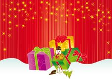 Free Christmas Card Gift Background  Illustration Stock Images - 20416604