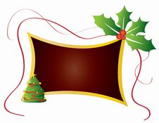 Free Christmas Card Frame Gift Background  Illustration Royalty Free Stock Photos - 20416638