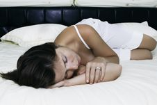 The Beautiful Young Sleeping Woman Royalty Free Stock Photos