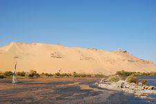 Felucca On Nile River Stock Photo