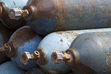 Free Cylinder  Oxygen  Compressed  Medical Stock Image - 20417131