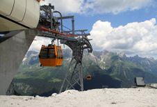 Free Upper Station Of Cableway Near Rif Gilberti Stock Images - 20417214
