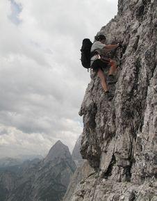 Free On Sierra Trail In Julian Alps Royalty Free Stock Photography - 20417307