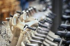 Free Parisian Bicycles Royalty Free Stock Photo - 20417725