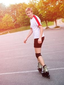Free Young Active Roller Blade Skater Stock Photos - 20417763