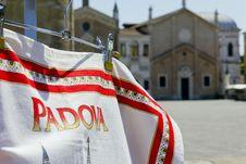 Padova Flag Royalty Free Stock Photography
