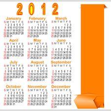 Classic Calendar 2012. Stock Image