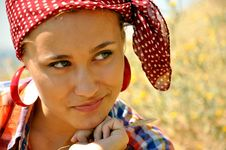 Free Lovely Young Woman On Farm Stock Photo - 20419550
