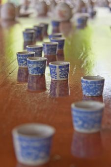 Free Small Cups And Tea Pots After Tea Ceremony Stock Photography - 20419642