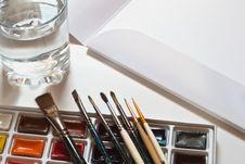 Free Watercolour Paints Set Stock Photo - 20419910