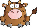 Free Cute Brown Cow Cartoon Mascot Character Stock Photography - 20422302