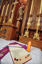 Free Catholic Altar In Church. Open Bible Royalty Free Stock Photography - 20422537