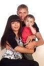 Free Family Of A Three At Sofa Royalty Free Stock Photos - 20429778