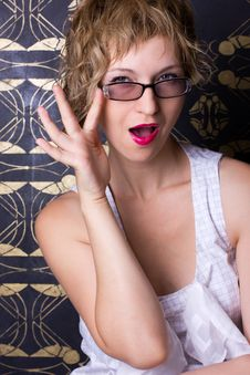 Free Sexy Woman Wearing Glasses Stock Image - 20420581