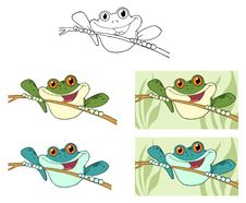 Frogs On Sticks Royalty Free Stock Photos
