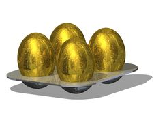 Golden Eggs Royalty Free Stock Images