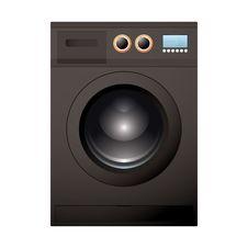 Free Black Washing Machine Stock Image - 20423151