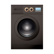 Black Washing Machine Stock Image