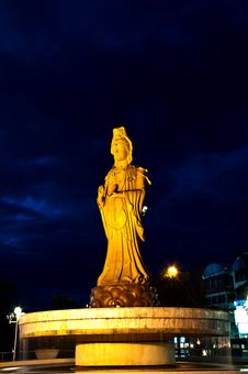 Guan Yin Image, Goddess Of Mercy. Thailand Royalty Free Stock Photography