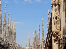 Free Italy - Milan - Duomo Rooftop Royalty Free Stock Photo - 20423685