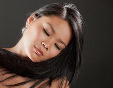 Beautiful Young Asian Woman Royalty Free Stock Photos