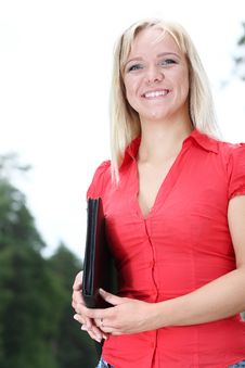 Free Girl With Documents Stock Photo - 20425050
