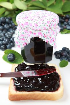 Free Blueberry Jam Stock Image - 20425301