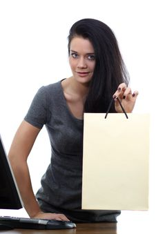 Free Woman With Shopping Bags Royalty Free Stock Image - 20425736