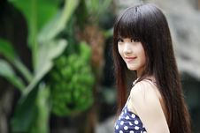 Asian Beauty In Summer Stock Photography